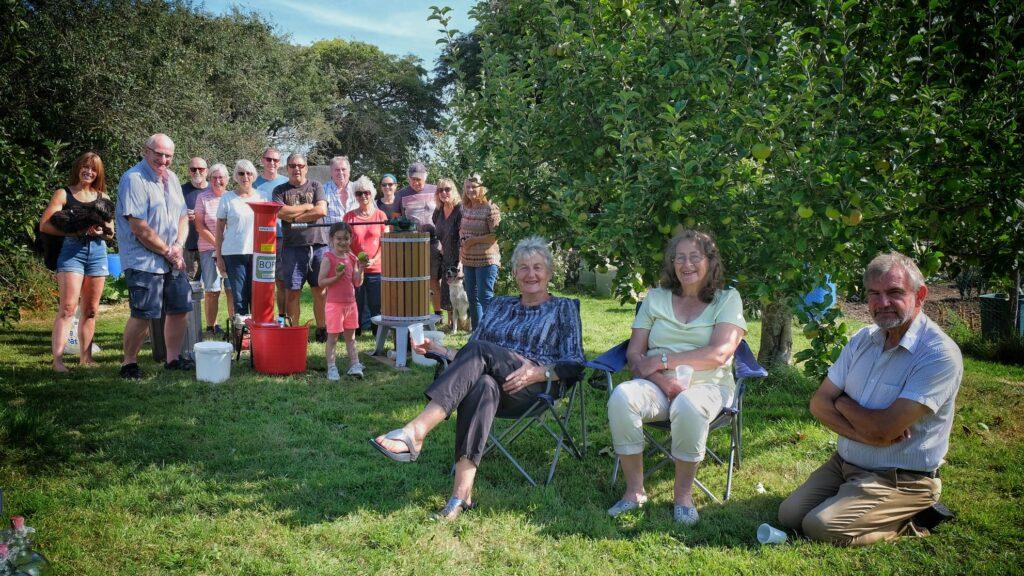 Members of the community, enjoying Apple Day